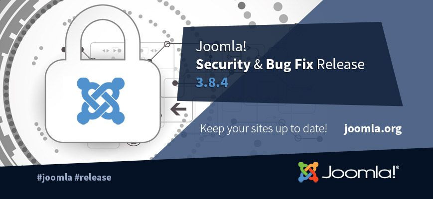 Joomla 3.8.4 è ora disponibile