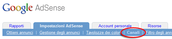 Canale Adsense